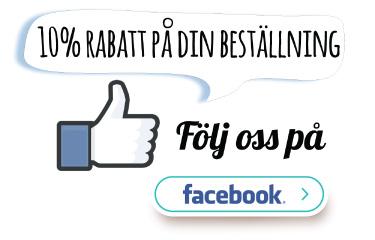 Følg oss på Facebook og få 10% rabatt på din ordre